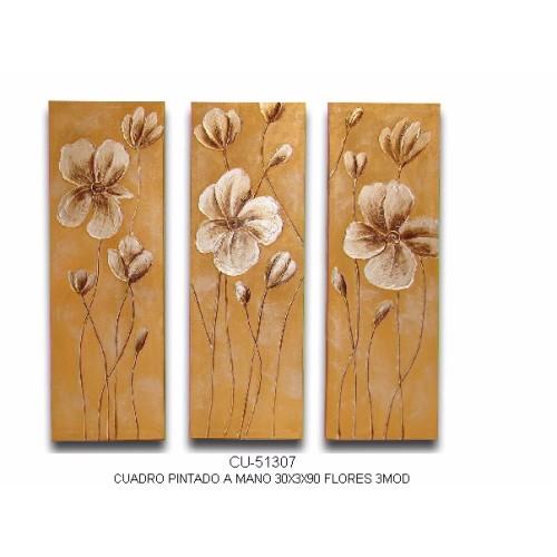 Triptico flores blancas